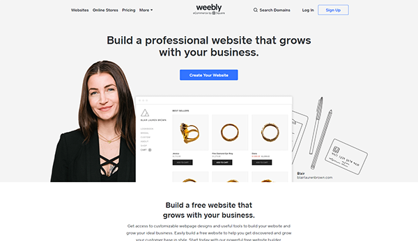 Weebly-Homepage